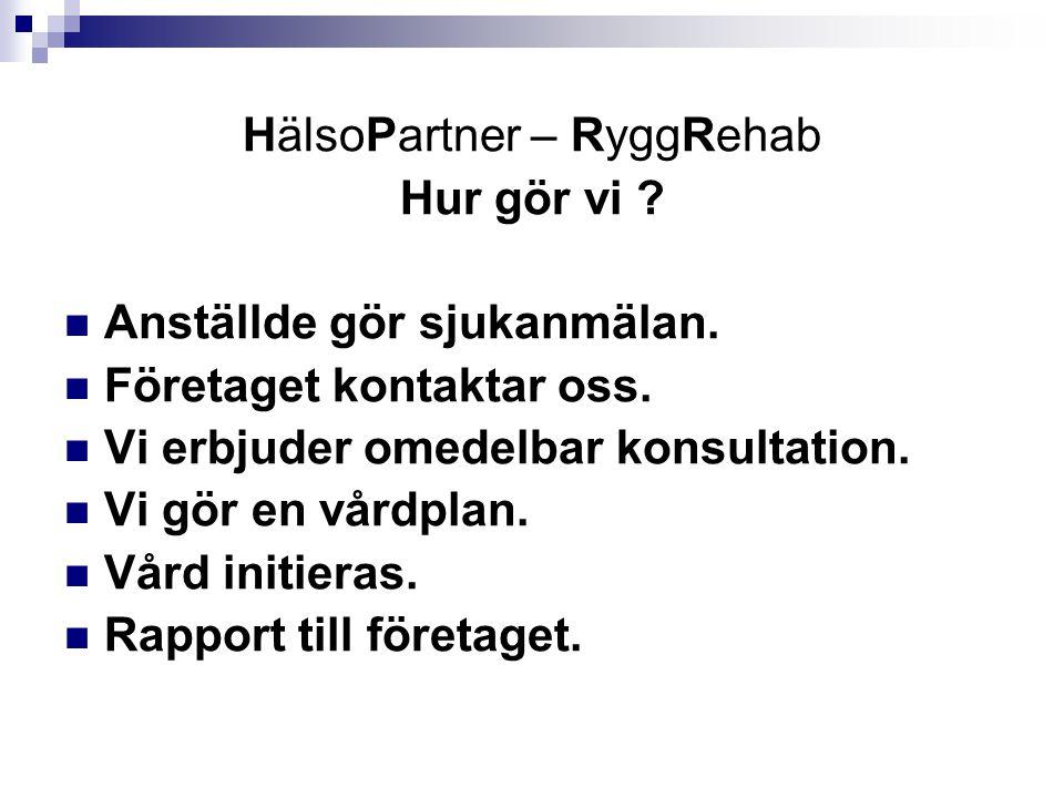 HälsoPartner – RyggRehab