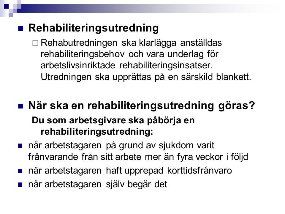 Rehabiliteringsutredning
