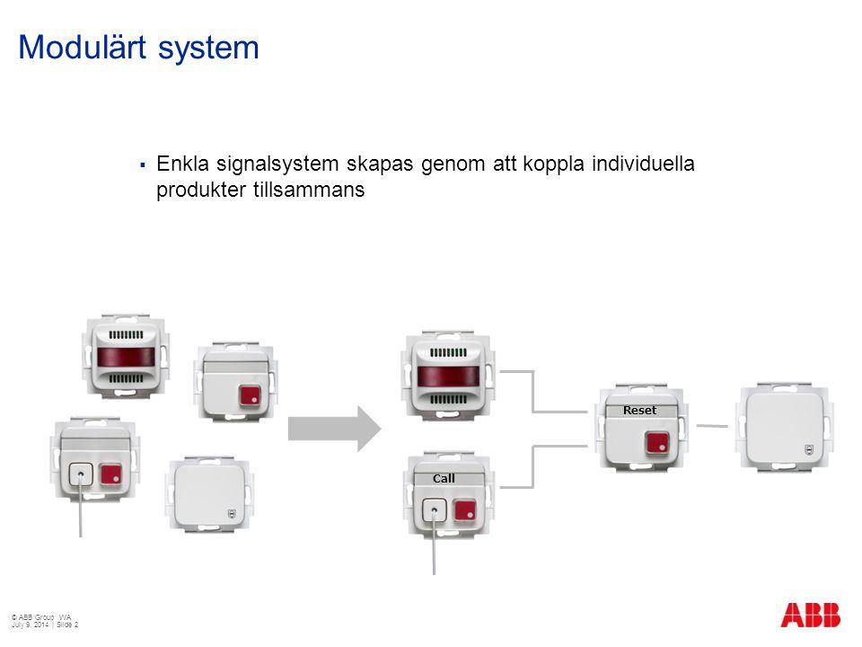 Modulärt system Enkla signalsystem skapas genom att koppla individuella produkter tillsammans. Reset.