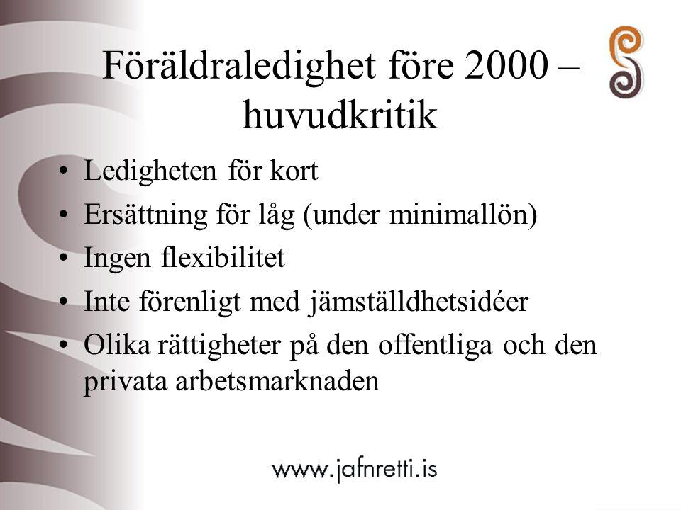 Föräldraledighet före 2000 – huvudkritik