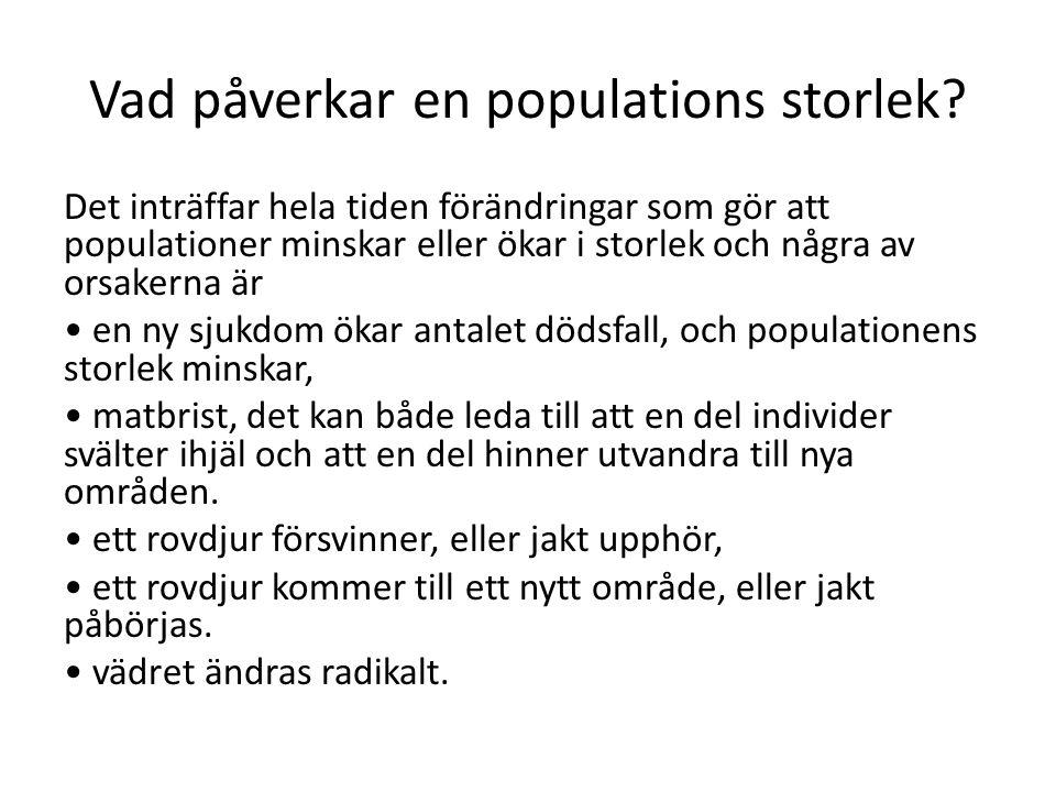 Vad påverkar en populations storlek