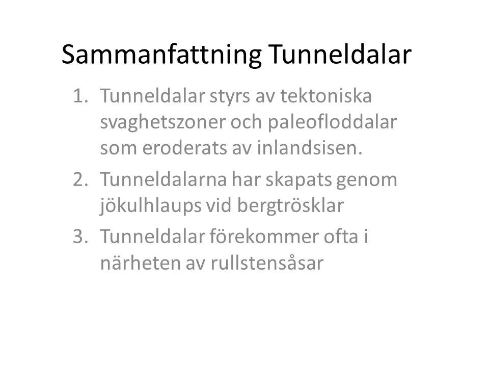 Sammanfattning Tunneldalar