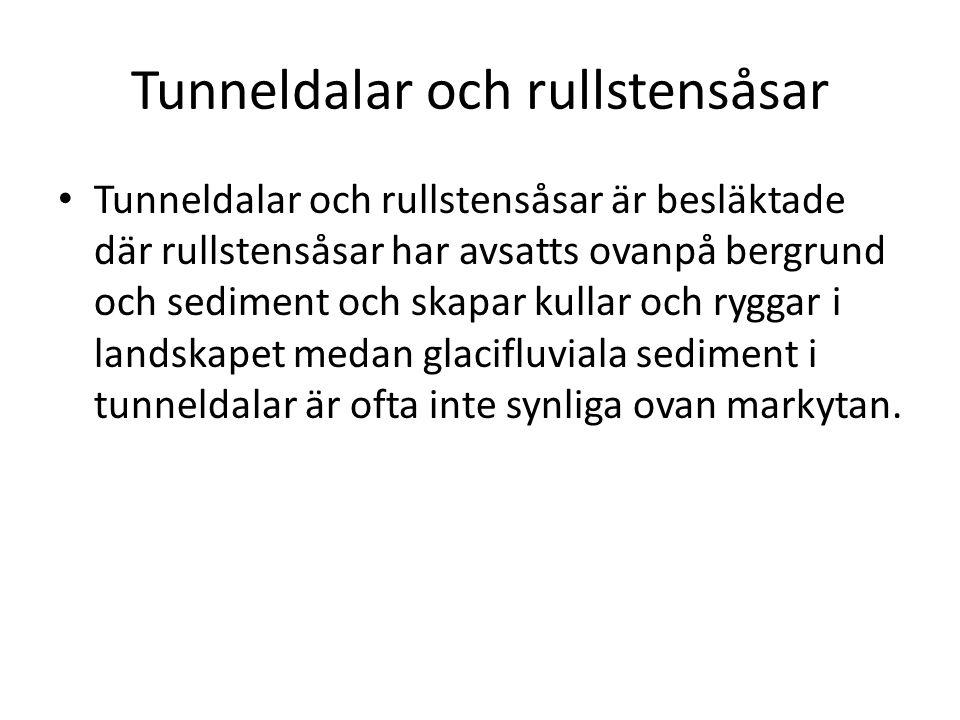 Tunneldalar och rullstensåsar