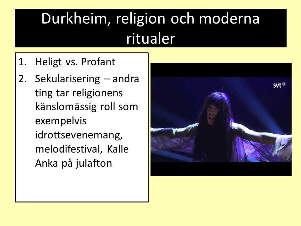 Durkheim, religion och moderna ritualer