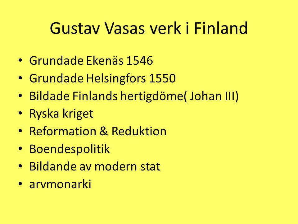 Gustav Vasas verk i Finland