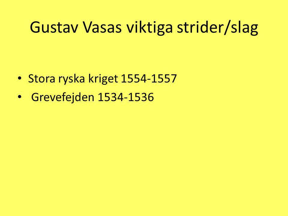 Gustav Vasas viktiga strider/slag