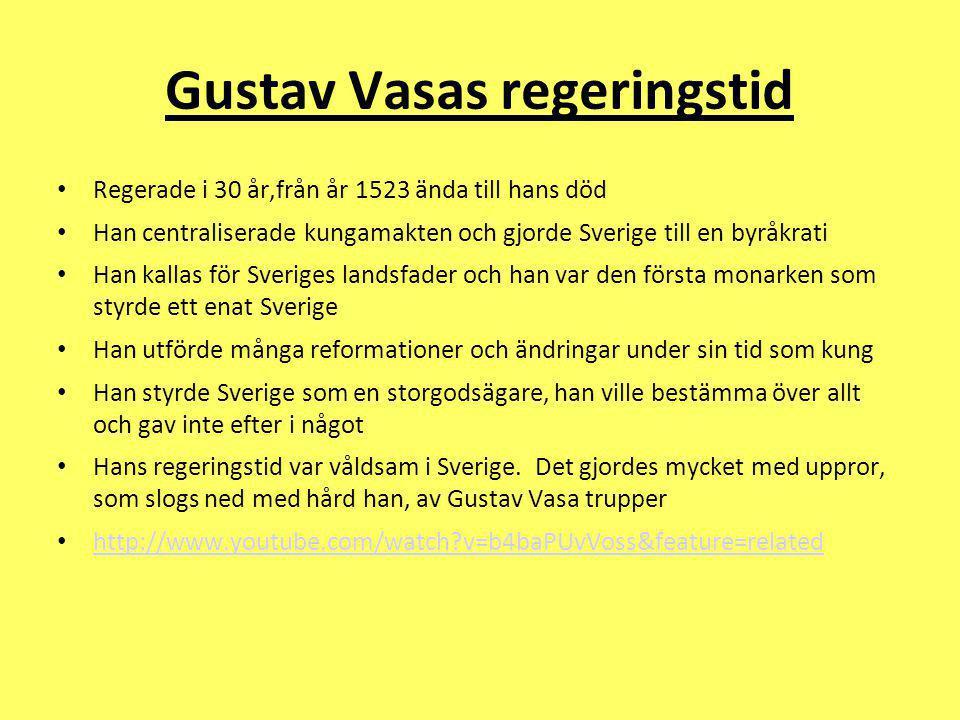 Gustav Vasas regeringstid