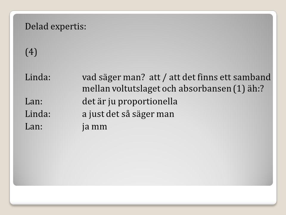 Delad expertis: (4) Linda: vad säger man