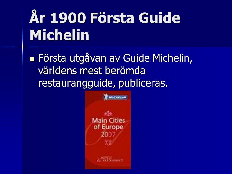 År 1900 Första Guide Michelin