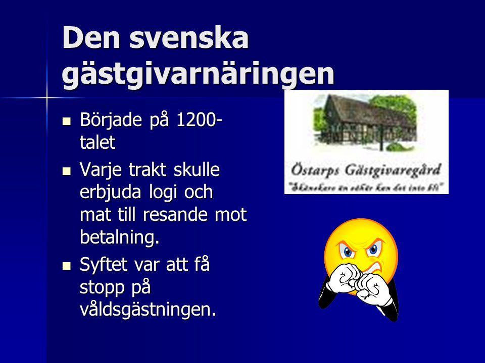 Den svenska gästgivarnäringen