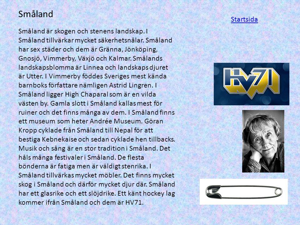 Småland Startsida.