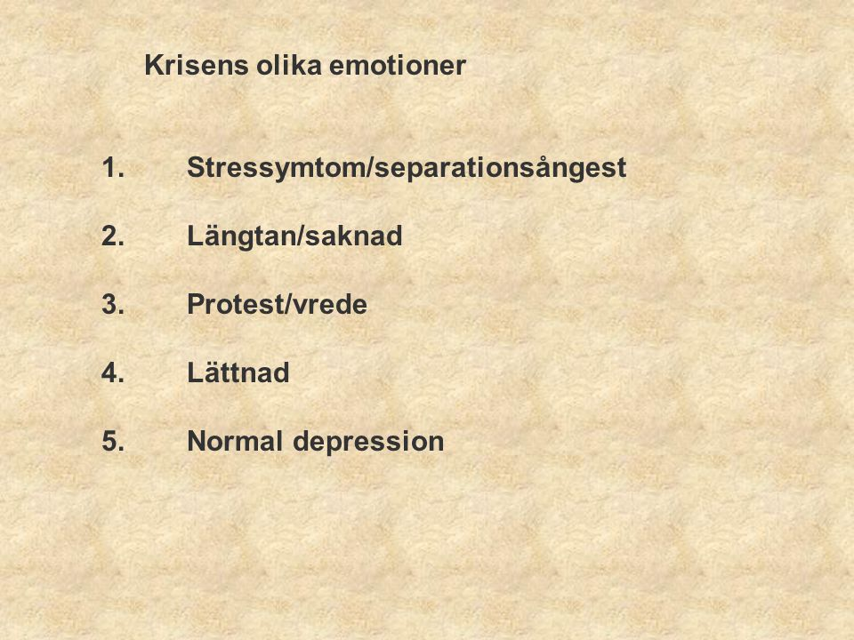 Krisens olika emotioner