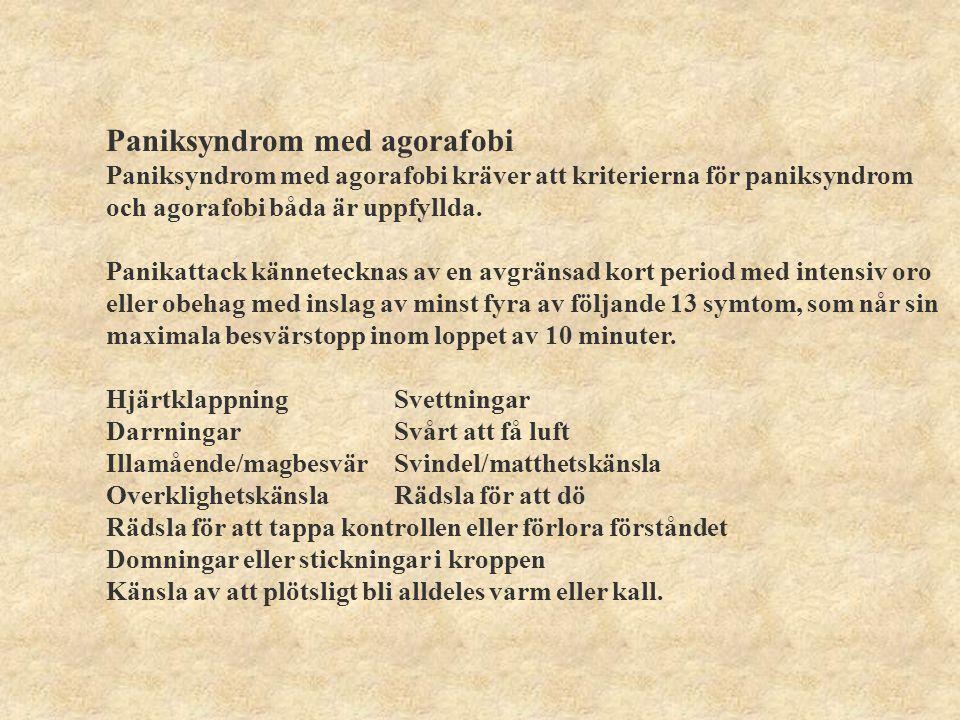 Paniksyndrom med agorafobi