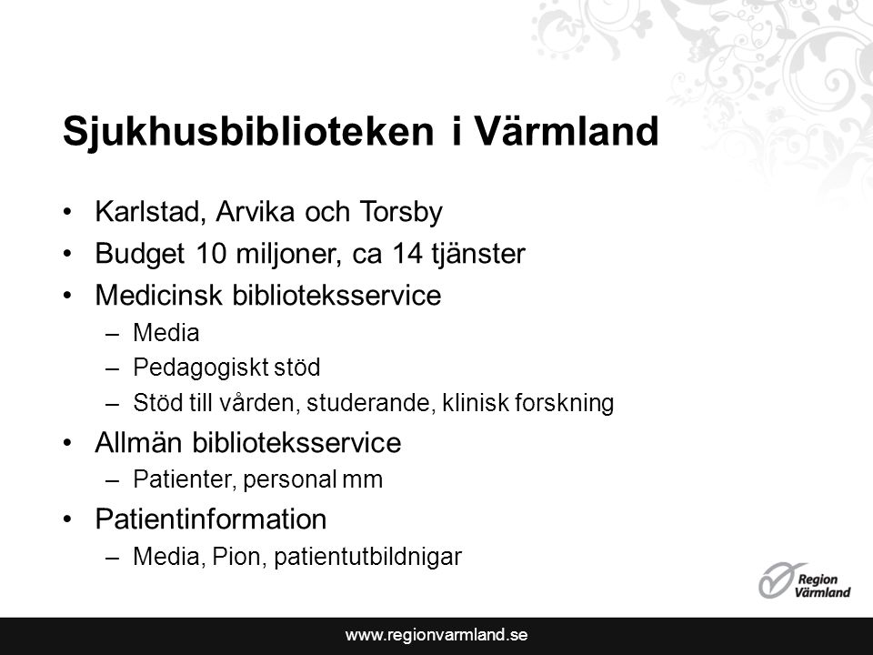 Sjukhusbiblioteken i Värmland