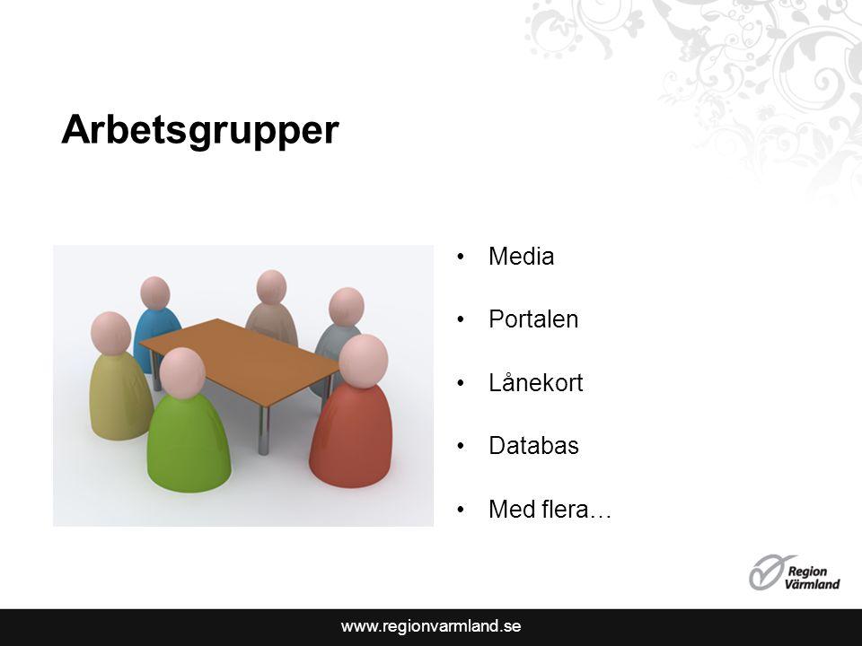 Arbetsgrupper Media Portalen Lånekort Databas Med flera…
