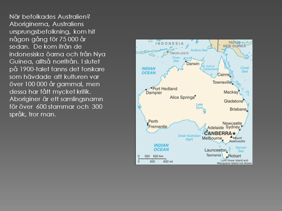 När befolkades Australien