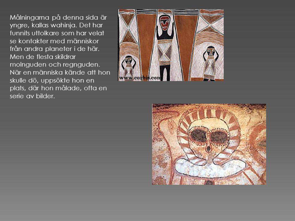 Målningarna på denna sida är yngre, kallas wahinja