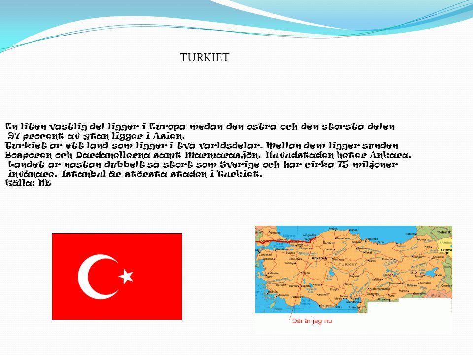 En liten västlig del ligger i Europa medan den östra och den största delen