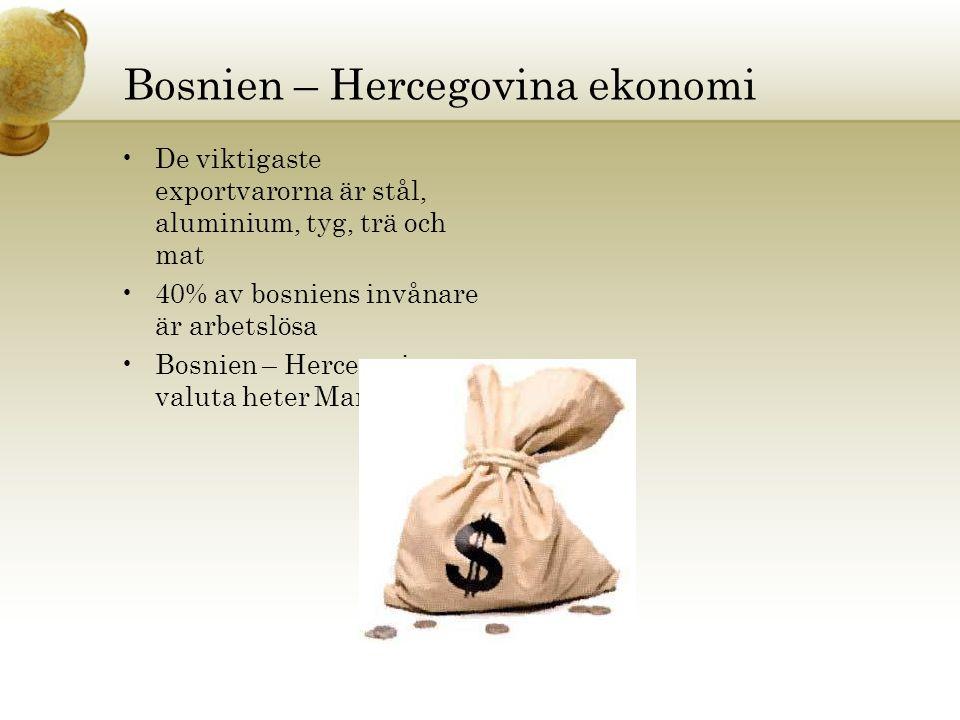 Bosnien – Hercegovina ekonomi