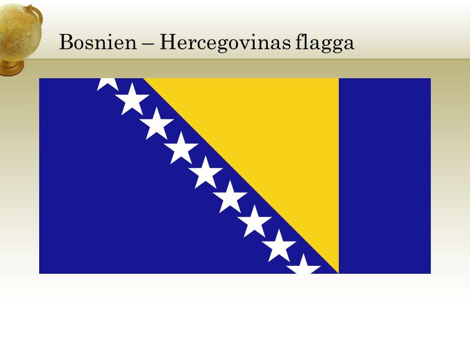 Bosnien – Hercegovinas flagga
