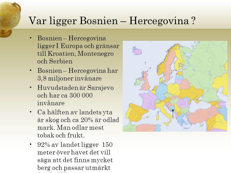 Var ligger Bosnien – Hercegovina