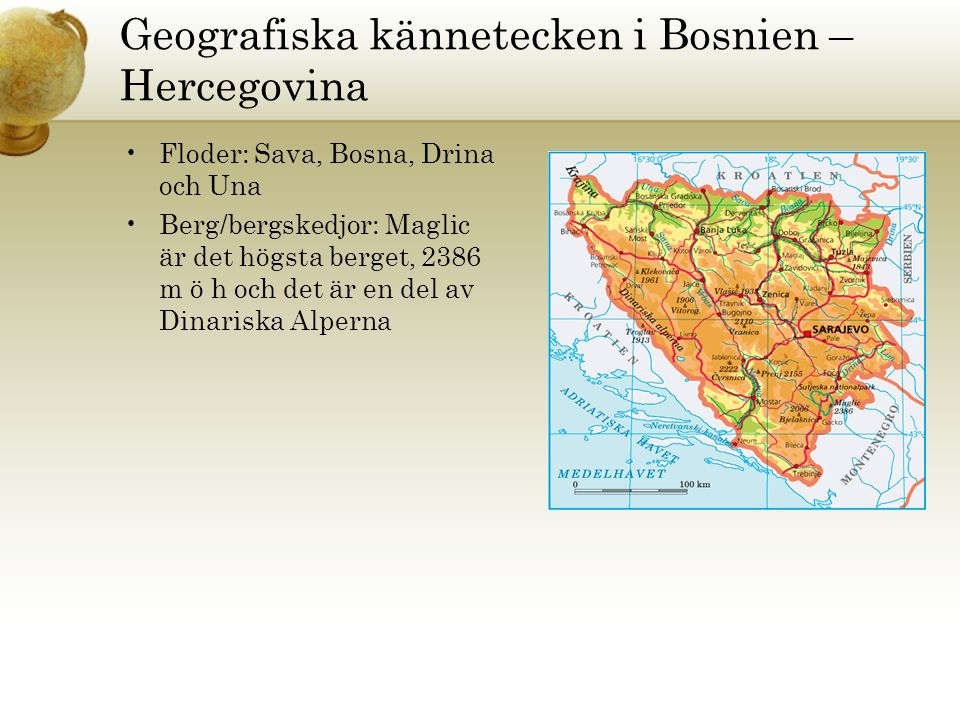 Geografiska kännetecken i Bosnien – Hercegovina