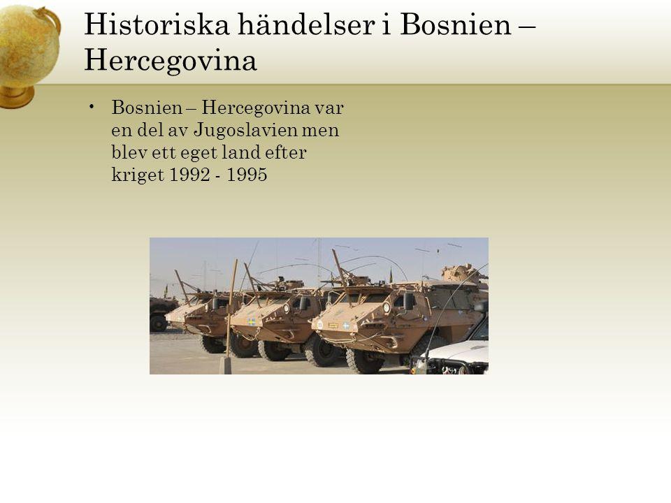 Historiska händelser i Bosnien – Hercegovina