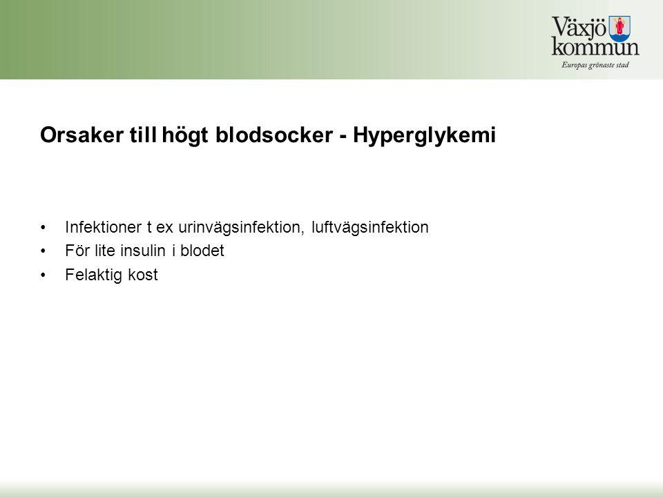 Orsaker till högt blodsocker - Hyperglykemi
