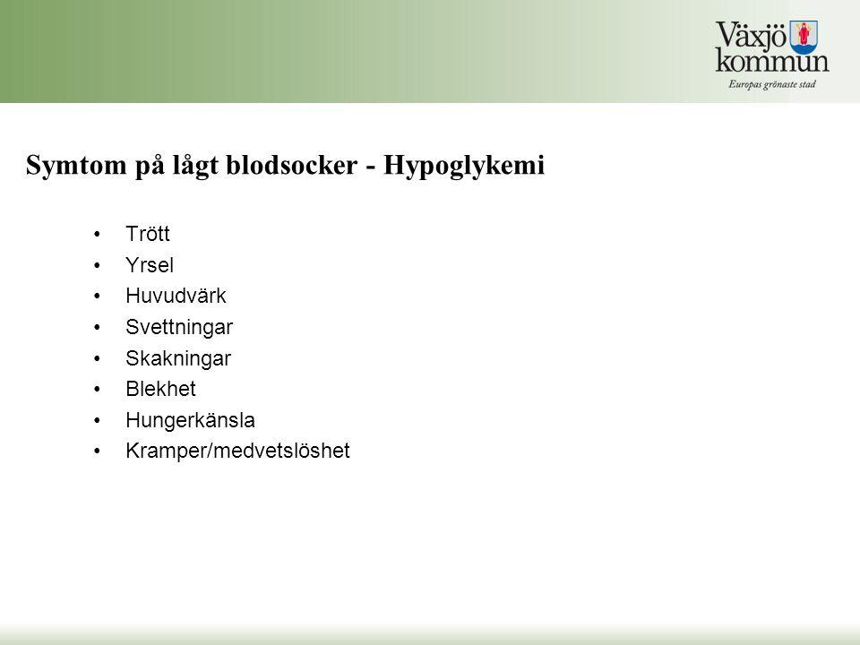 Symtom på lågt blodsocker - Hypoglykemi