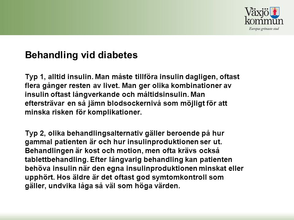 diabetes typ 2 behandling