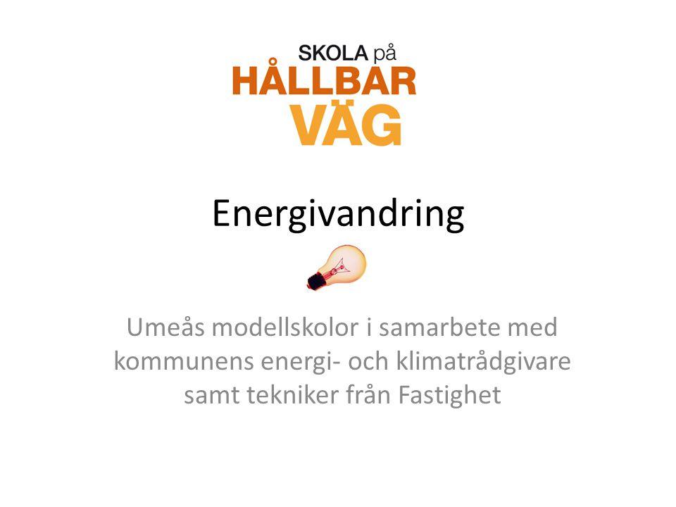 Energivandring Umeås modellskolor i samarbete med kommunens energi- och klimatrådgivare samt tekniker från Fastighet.