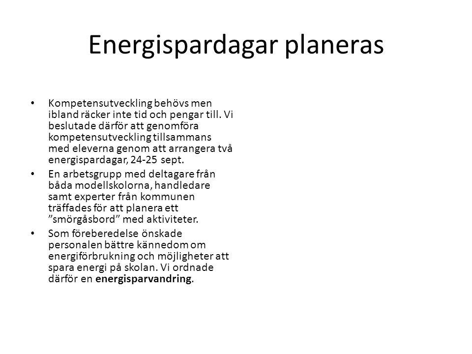 Energispardagar planeras