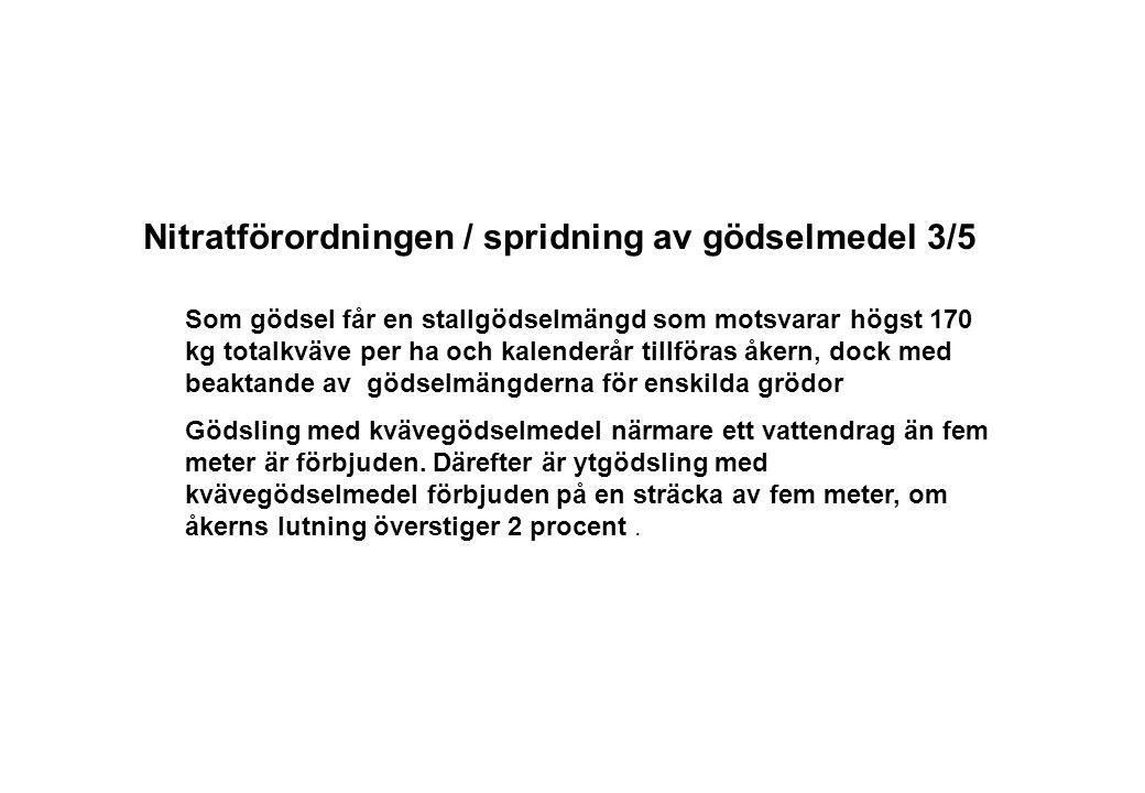 Nitratförordningen / spridning av gödselmedel 3/5
