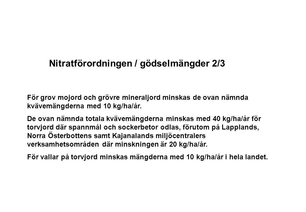 Nitratförordningen / gödselmängder 2/3