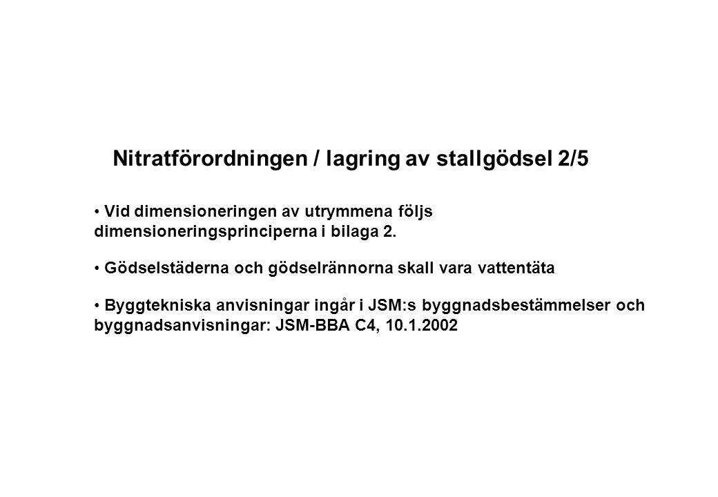Nitratförordningen / lagring av stallgödsel 2/5