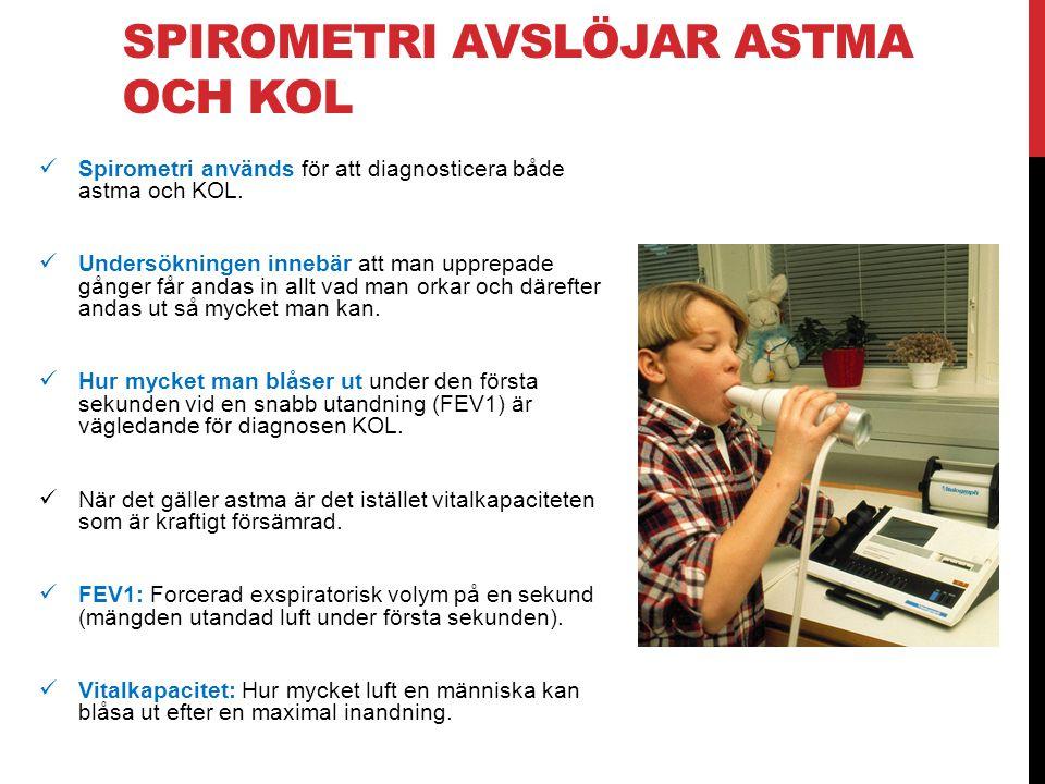 Spirometri avslöjar astma och KOL