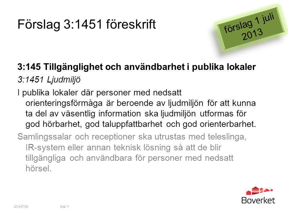 Förslag 3:1451 föreskrift förslag 1 juli 2013