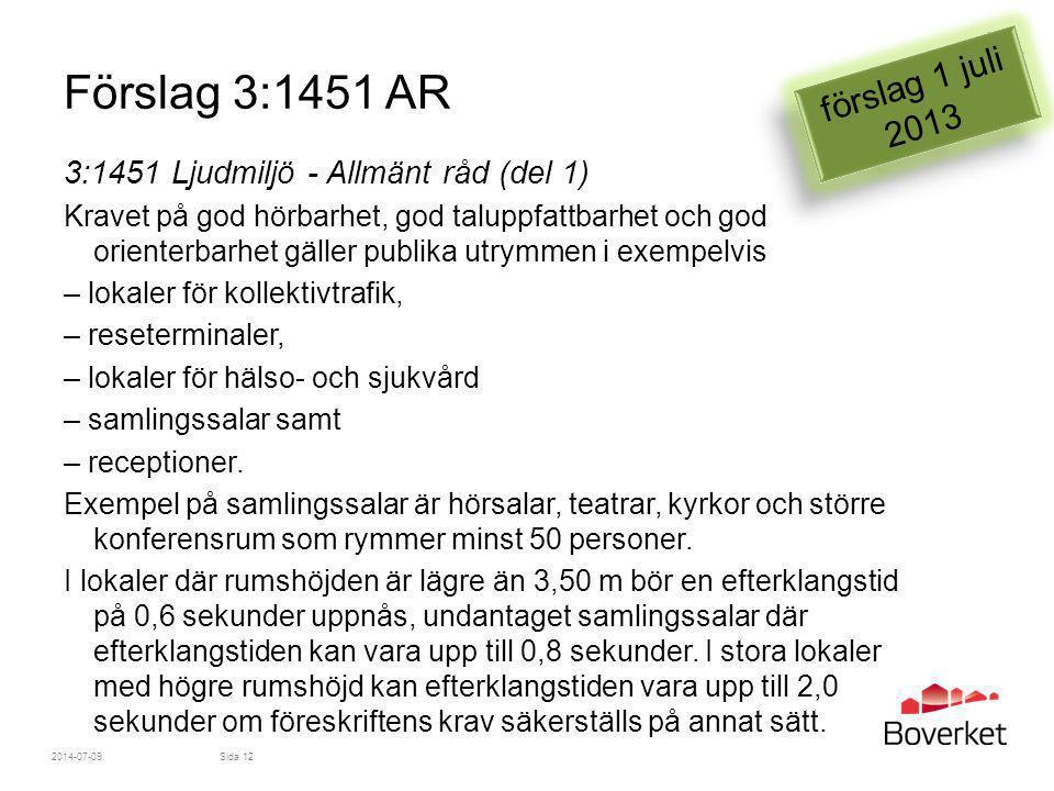 Förslag 3:1451 AR förslag 1 juli 2013