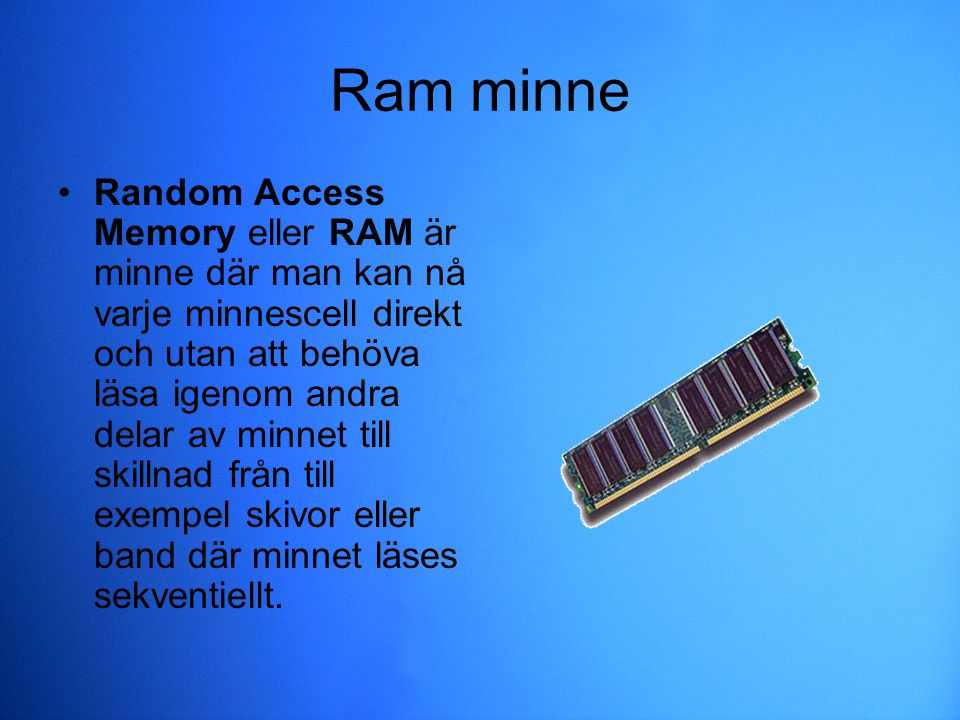 Ram minne