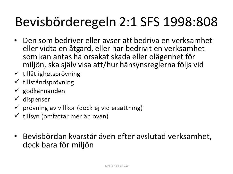 Bevisbörderegeln 2:1 SFS 1998:808