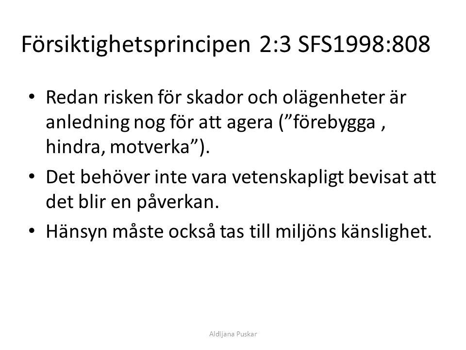 Försiktighetsprincipen 2:3 SFS1998:808