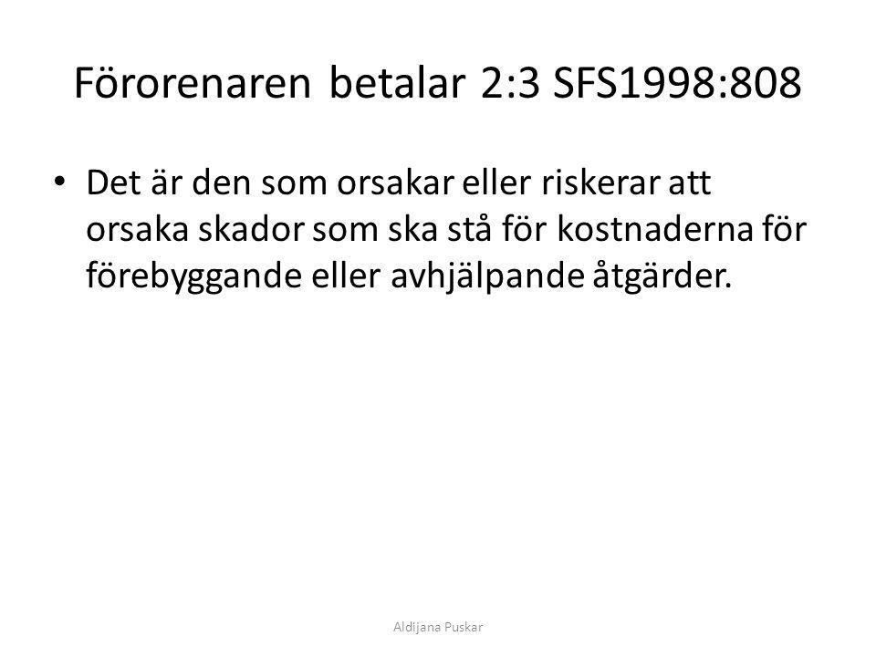 Förorenaren betalar 2:3 SFS1998:808