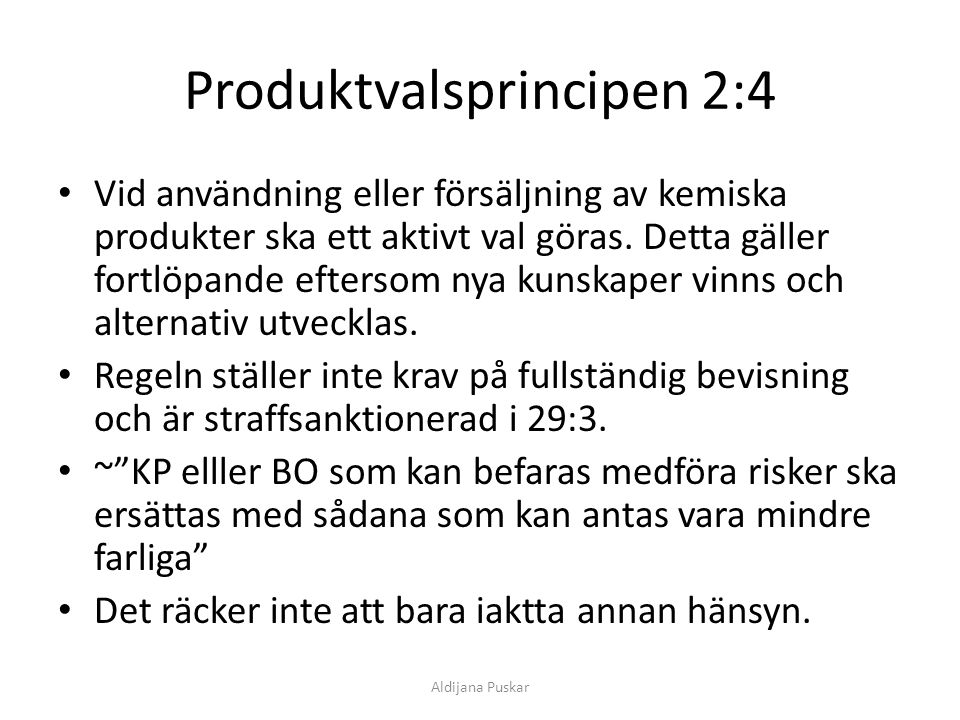 Produktvalsprincipen 2:4