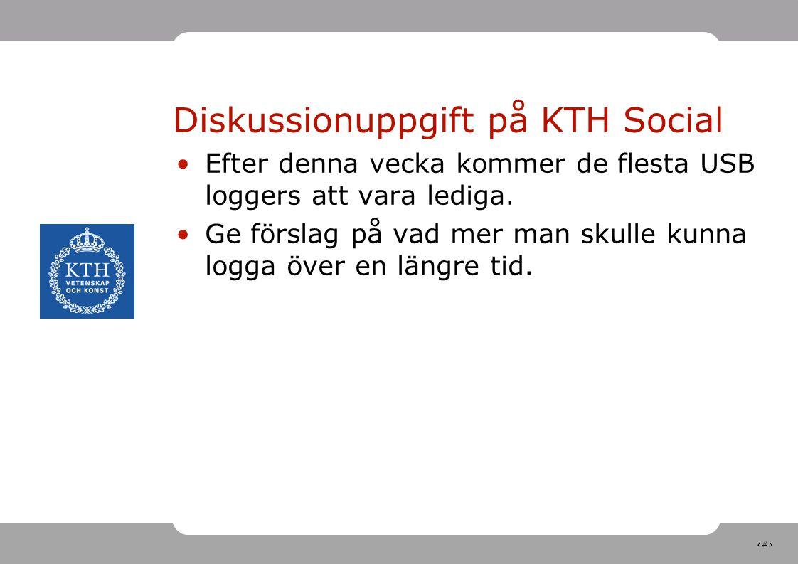 Diskussionuppgift på KTH Social