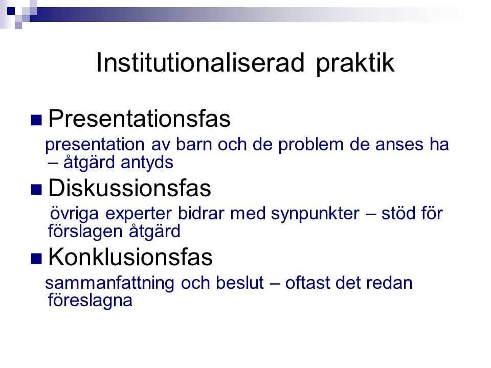 Institutionaliserad praktik