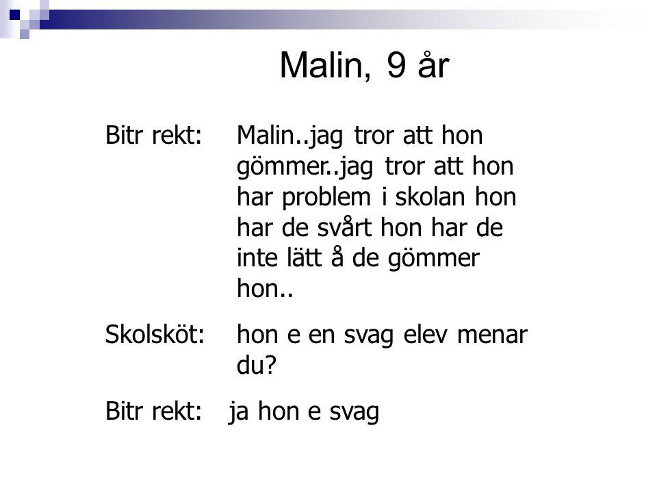 Malin, 9 år