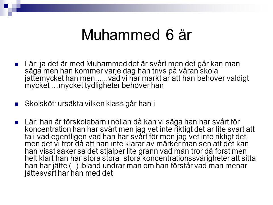 Muhammed 6 år