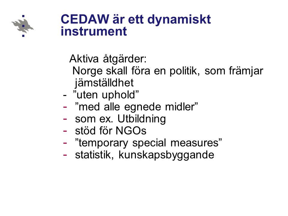 CEDAW är ett dynamiskt instrument