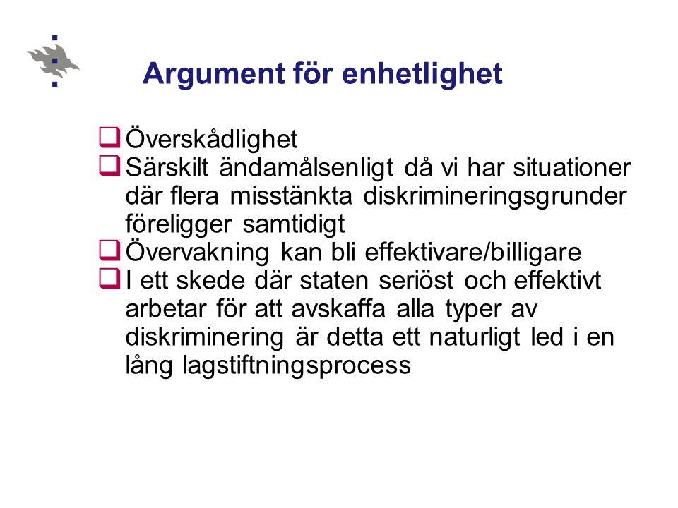 Argument för enhetlighet