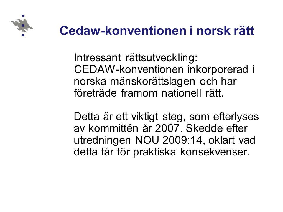 Cedaw-konventionen i norsk rätt
